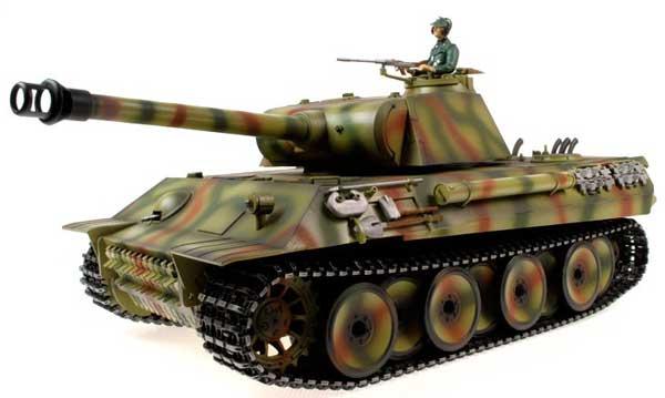 ラジコン戦車完成品タイゲンTaigen/HengLong 1/16 パンター 2.4GHz(ウェザリング迷彩塗装・金属キャタピラ・BB・サウンド・発煙仕様)German Panther Tank Metal Tracks