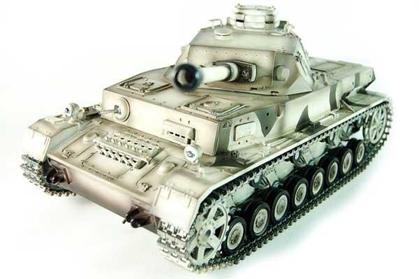 ラジコン戦車完成品タイゲンTaigen/HengLong 1/16 IV号F2型(冬季ウェザリング塗装・金属キャタピラ・BB・サウンド・発煙仕様)German DAK Pz.Kpfw.IV AufsF2.Sz.Kfz Tank Metal Tracks