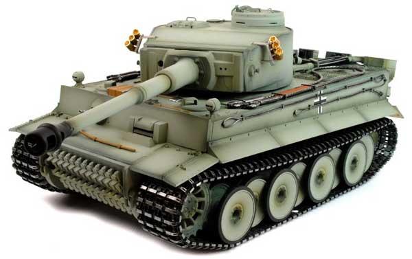 ラジコン戦車完成品タイゲンTaigen 1/16 Tiger1 初期型 2.4GHz プロ-メタルエディション(金属キャタピラ・BB・サウンド・発煙仕様・ウェザリンググレイ塗装)