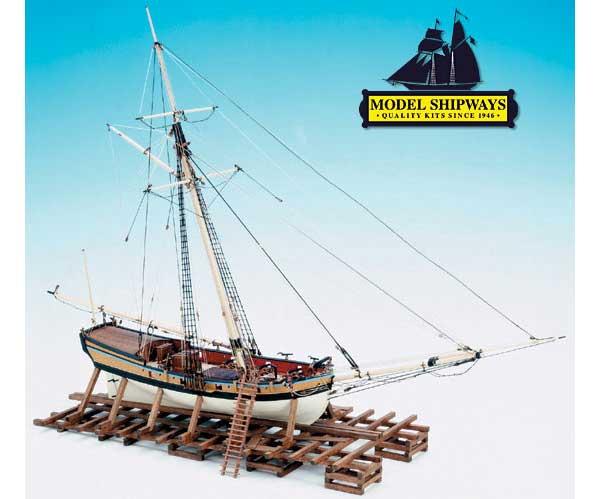 ModelShipways 武装バージニア・スループ(Armed Virginia Sloop 1:48 Scale) MS2160