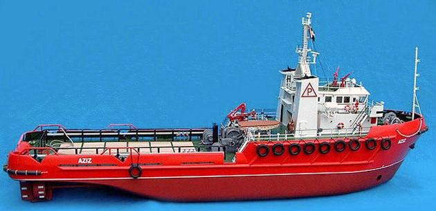 "ModelSlipWay アンカー・ハンドリング・タグボート ""アジズ"" (AZIZ)"