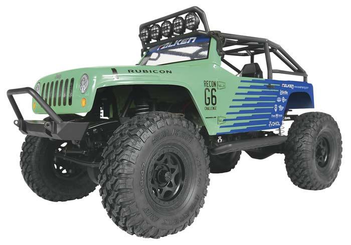 AXIAL SCX10 ラングラー G6 ファルケン RTR(Axial 1/10 SCX10 Jeep Wrangler G6 Falken 4WD RTR)AX90036
