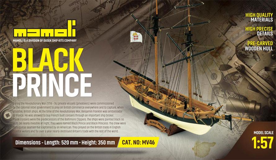 c.mamoli ブラックプリンス(MV46 BLACK PRINCE Privateer Schooner 1775)