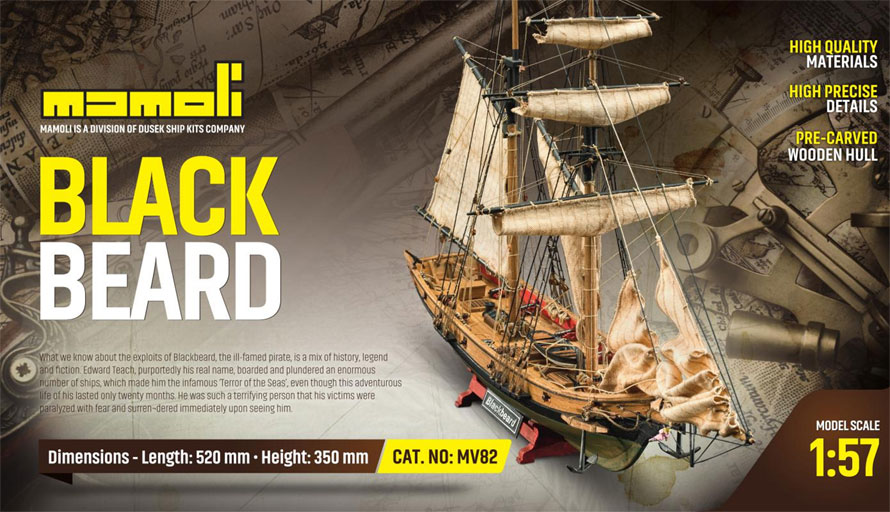 c.mamoli ブラック・ベアード(MV82 BLACKBEARD Corsair´s Sloop)
