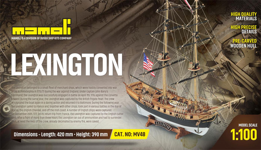 c.mamoli レキシントン(MV48 LEXINGTON American Brig)
