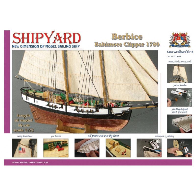 VESSEL-SHIPYARD ベルビス(Berbice 1780 Laser Cardboard Kit)ZL:004