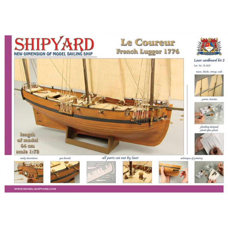 VESSEL-SHIPYARD ル・クロール(Le Coureur 1776 Laser Cardboard Kit)ZL:002