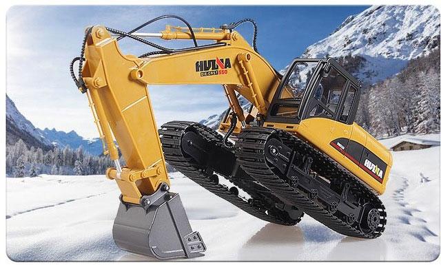 本格重機RC HuiNa Toys 1550 15CH  1/14 RC ショベル (RTR)