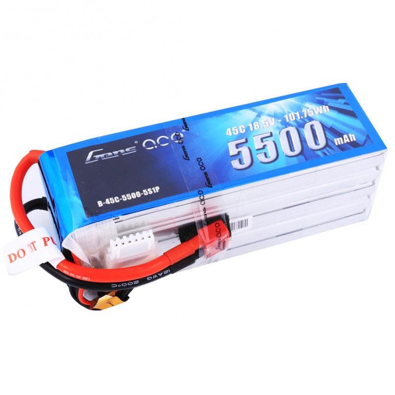 ジェンスエース/GensAce リポバッテリー 18.5V 5500mAh 45C (Gens ace 5500mAh 18.5V 45C 5S1P Lipo Battery Pack with Deans Plug)GA-B-45C-5500-5S1P-Deans