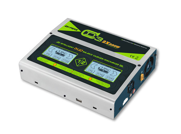 イーブイ・ピーク/EV-PEAK CD3 AC/DCハイパワーマルチ充電器(2個同時充電 200W x 2)