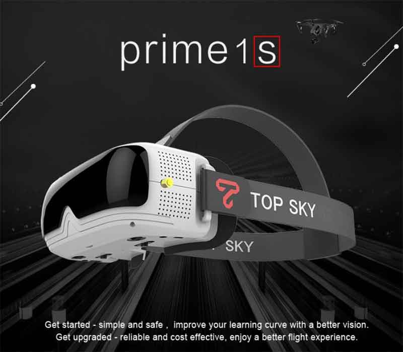 TOPSKY Prime1S FPV Goggles FPVゴーグル ドローン空撮用 5.8G 48CH 2.4 Inch FPV Goggles Diversity Receiver Built-In Battery DVR For RC Drone