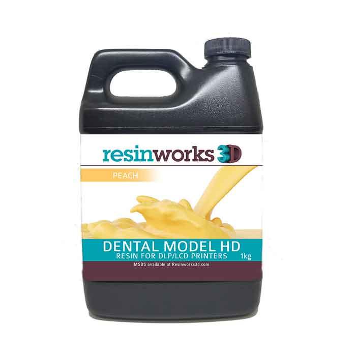 resinworks3D 歯科用モデルHDレジン ピーチ1Kg LCD光造形 3Dプリンター用 (Anycubic Photon、Bean、FlashForge、Phrozen 3Dプリンター、Wanhao、およびその他のLCDベースのプリンター)Dental Model Peach