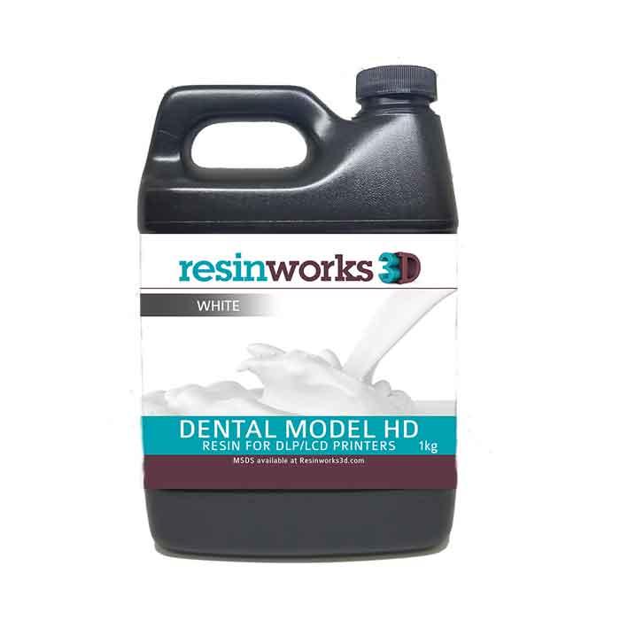 resinworks3D 歯科用モデルHDレジン 白500g LCD光造形 3Dプリンター用 (Anycubic Photon、Bean、FlashForge、Phrozen 3Dプリンター、Wanhao、およびその他のLCDベースのプリンター)Dental Model White