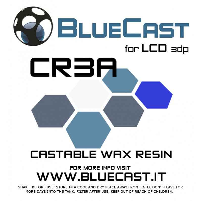 BlueCast Cr3aレジン 光造形LCD 3Dプリンター用 (Wanaho D7、Anycubic 3d、Phrozen Shuffle、Micromake L2、X-Cube、Xayav V (405 nm)) BlueCast Cr3a LCD 0.5 kg