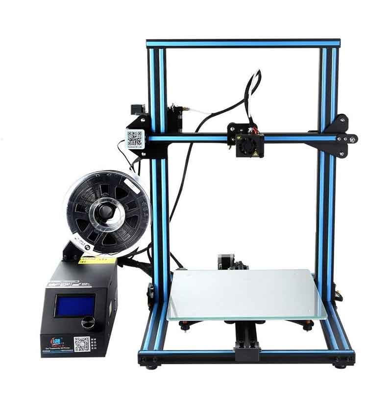 Creality3D CR-10S 大型印刷 3Dプリンター 一部組立済みDIYキット 300×300×400mm大容量ビルドエリア 3.2インチフルカラータッチスクリーン フィラメントセンサーデュアルZ軸搭載 停電時復帰機能