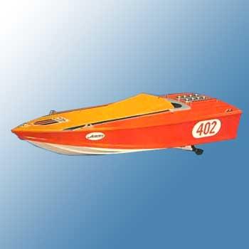 """地球堂模型 ミニボートシリーズ """"外洋レーサーオーロラPC-402"""""""