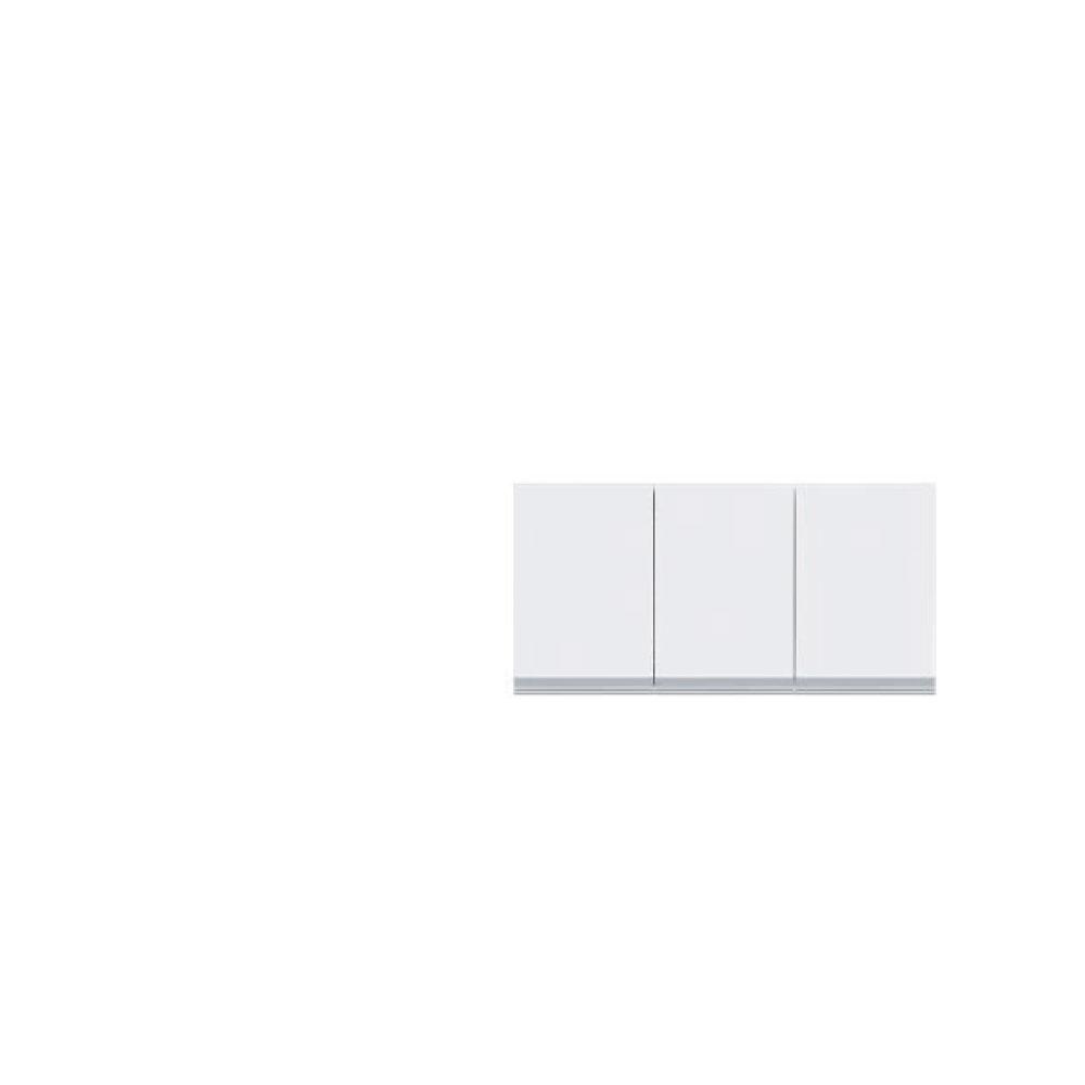 本州、四国は開梱設置無料!共和産業 グラッセ 高さオーダー上置き 90 ホワイト【幅90×高さ25-45cm】