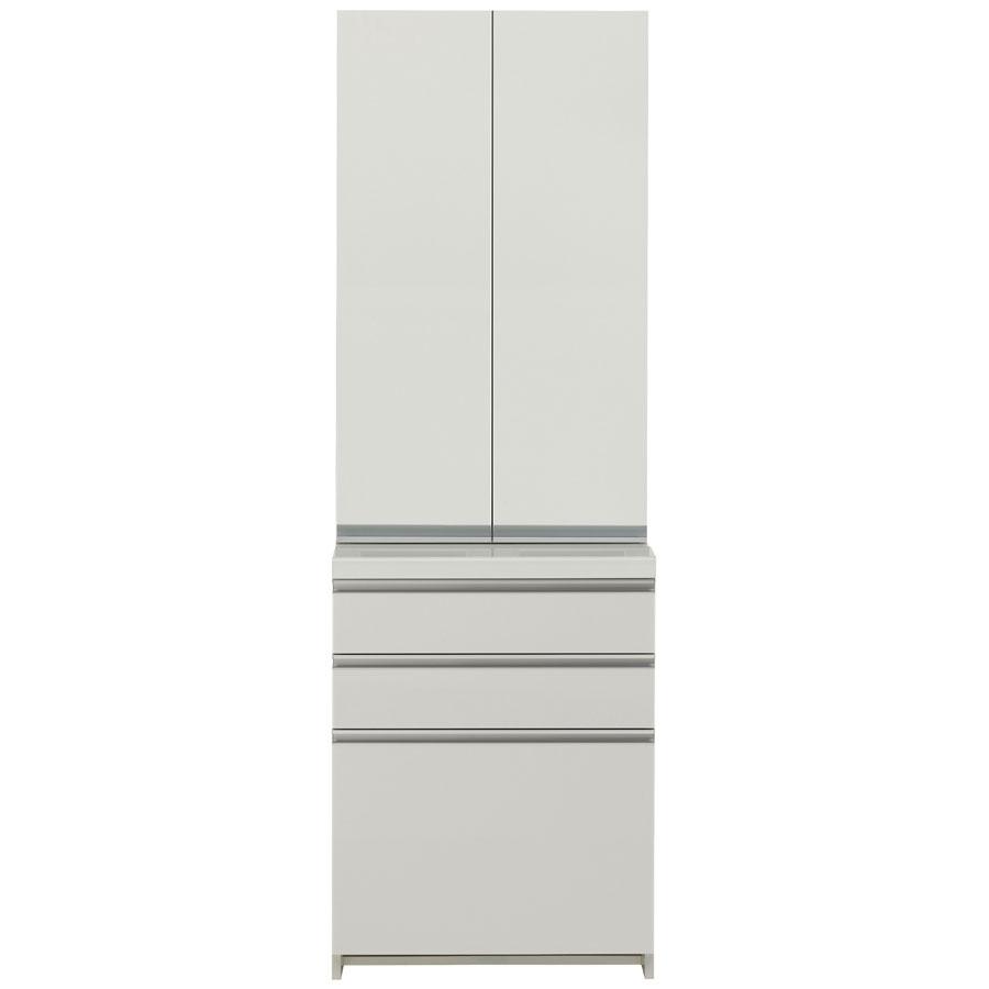 食器棚 パモウナ WL/KL KL-S600K KL-600K 【幅60×高さ187cm】 食器棚 パールホワイト pamouna