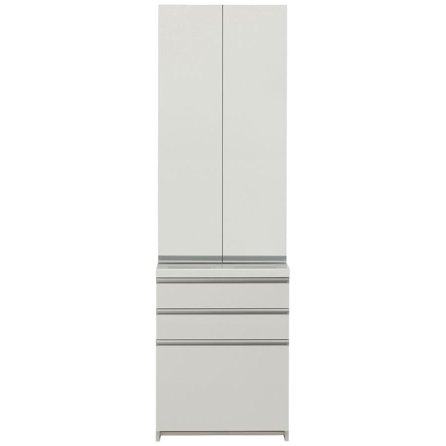 パモウナ 食器棚 完成品 WL/KL WL-S600K WL-600K 【幅60×高さ198cm】 パールホワイト pamouna