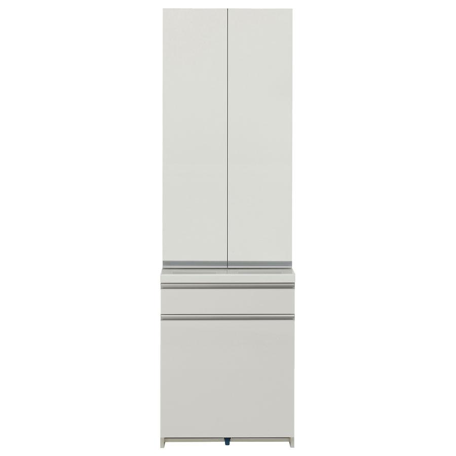 食器棚 パモウナ WL/KL WL-S601K WL-601K 【幅60×高さ198cm】 パールホワイト pamouna