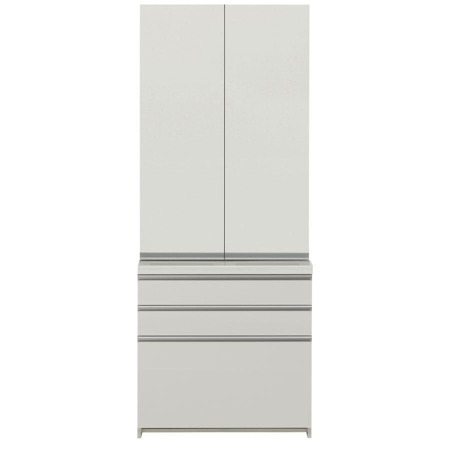 パモウナ 食器棚 完成品 WL/KL WL-S800K WL-800K 【幅80×高さ198cm】 パールホワイト pamouna