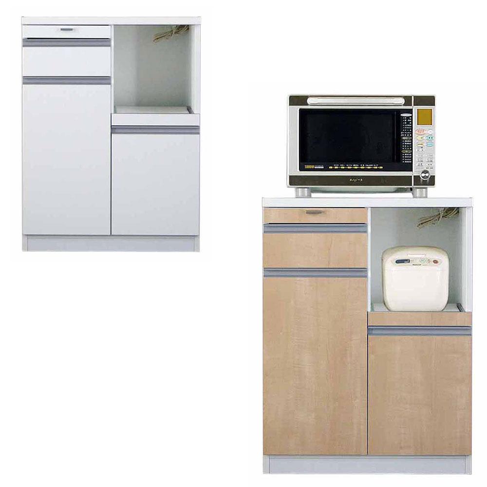 高橋木工所 スマートII キッチンボード 70Sカウンター 幅70.3×奥行45×高さ93cm ホワイト 家電ボード 食器棚