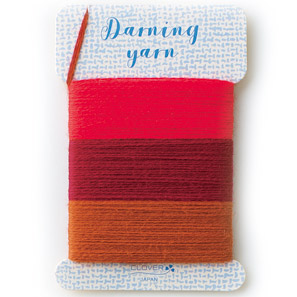 付与 クロバー ダーニング糸レッド系 本物◆ 57-213