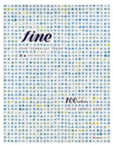 新感覚シルク形状縫い糸 100色の見本帳です。正確な色合わせにご活用ください。 FUJIX(フジックス) ファイン 見本帳 サンプル帳 シルク形状縫い糸 カラーコード