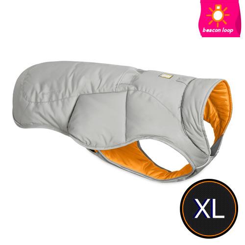 軽量で動きやすいのに しっかりと保温してくれる中綿入りベスト ※返品交換不可※ラフウェア RUFFWEAR クラウドバーストグレー クインジージャケット 推奨 XL 国際ブランド