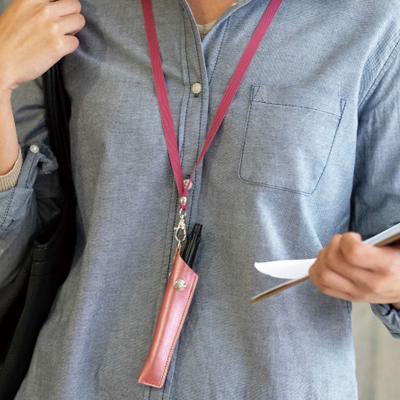 至上 胸ポケットのない女性の服装におすすめのペンホルダー 同色のネックストラップ付で首から下げて持ち歩きできます ペンホルダー ネックストラップ付 ネックストラップ ペンケース 1本差し ストラップ おしゃれ ギフト ユニセックス メンズ レディース 訳あり商品 A.Y.Judie プレゼント ploomtech シンプル プルームテック