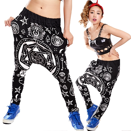 ayukaman dance clothes b system hip hop system magic formation print sarouel pants dance. Black Bedroom Furniture Sets. Home Design Ideas