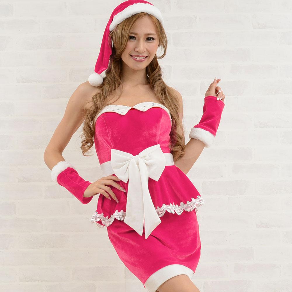 サンタ 衣装 5015サンタ3点セットクリスマス サンタコスチューム キャバドレス