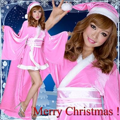 サンタ衣装 0903着物サンタコスチューム3点セットクリスマス サンタコスチューム