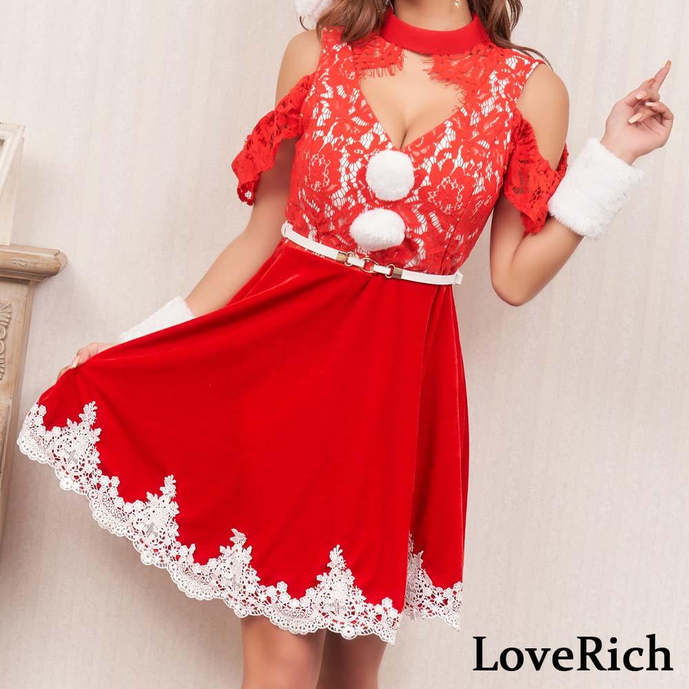 サンタ衣装 サンタコス 0918レースサンタ4点セットコスプレ サンタクロース クリスマス コスチューム キャバドレス