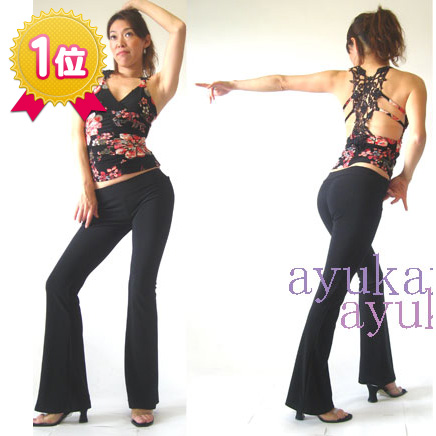 1St place award Wrapup shallow bootcut beauty leg pants stretch pants ballroom dance belly dance belly dance costume Yoga Yoga were yoga pants dance costume Dancewear dance wear magic pants.