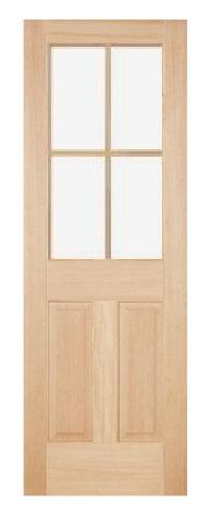 木製室内ドア -ヘムロック-/アートガラス HD-4L44
