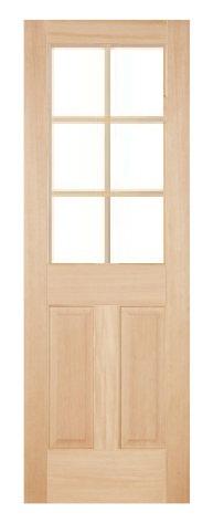 木製室内ドア -ヘムロック-/アートガラス HD-6L44