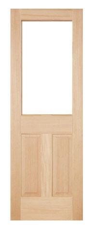 木製室内ドア -ヘムロック-/アートガラス HD-1L44