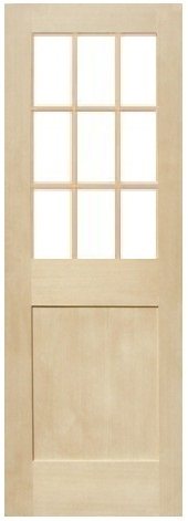 木製室内ドア -ヘムロック-/アートガラス HM-9L22