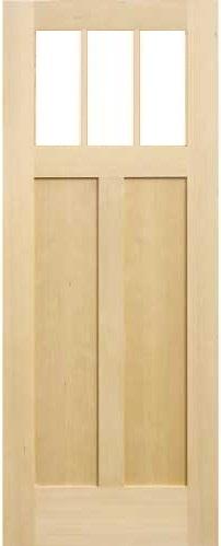 木製室内ドア -ヘムロック-/アートガラス HS-3M760