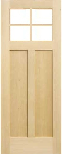 木製室内ドア -ヘムロック-/アートガラス HS-4M760