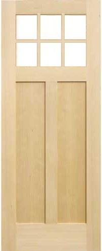 木製室内ドア -ヘムロック-/アートガラス HS-6M760