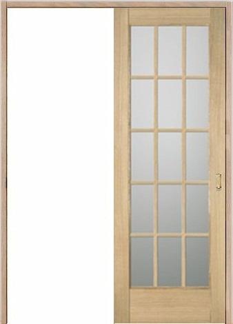 木製室内ドア 引き戸枠セット-アッシュ- SL-AM-1515