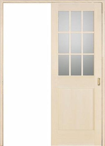 お買い得セット(ドア、枠、金物セット)木製室内ドア 引き戸枠セット-バーチ(カバ)ドア- sl-bm-1l22