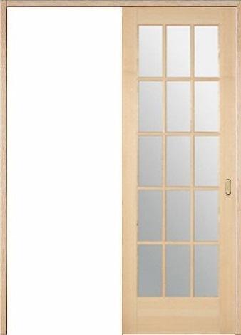 木製室内ドア 引き戸枠セット-ヘムロック- SL-HM-1515