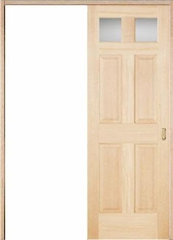 木製室内ドア 引き戸枠セット-ヘムロック- SL-HD-266