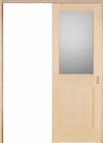 お買い得セット(ドア、枠、金物セット)木製室内ドア 引き戸枠セット-ヘムロック(米栂)- sl-hm-1l22