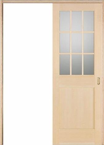 木製室内ドア 引き戸枠セット-ヘムロック-/ガラスタイプ SL-HM-9L22