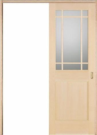 木製室内ドア 引き戸枠セット-ヘムロック-/ガラスタイプ SL-HM-9SL22