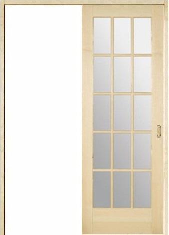 木製室内ドア 引き戸枠セット-パイン- SL-PM-1515